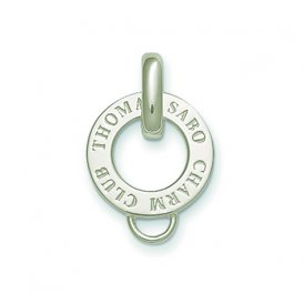 Thomas Sabo 1.3cm Silver Round Engraved Charm Carrier ~ X0017-001-12