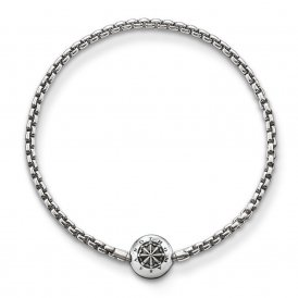 Thomas Sabo Blackened Silver Karma Beads Bracelet