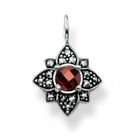 Thomas Sabo Brown CZ Marcasite Star Pendant