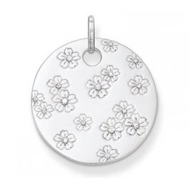 Thomas Sabo Crystal Flower Disc Pendant