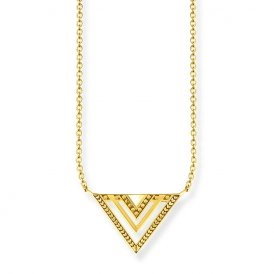 Thomas Sabo Gold Africa Triangle Necklace ~ KE1568-413-39-L45V