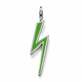 Thomas Sabo Green Lightning Bolt Pendant