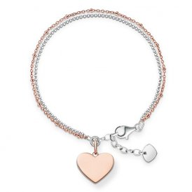 Thomas Sabo Rose Gold Heart Bracelet ~ LBA0102-415-12-L19.5V
