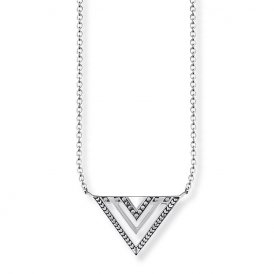 Thomas Sabo Silver Africa Triangle Necklace ~ KE1568-637-21-L45V