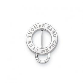 Thomas Sabo Silver Engraved Round Charm Carrier for Silk Cords ~ X0146-001-12