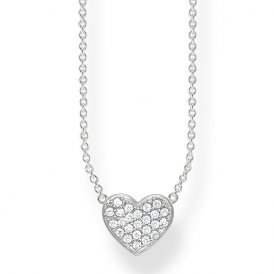 Thomas Sabo Silver Heart Pave Necklace ~ KE1547-051-14-L45V
