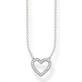 Thomas Sabo Silver Open Heart Necklace ~ KE1554-051-14-L45V