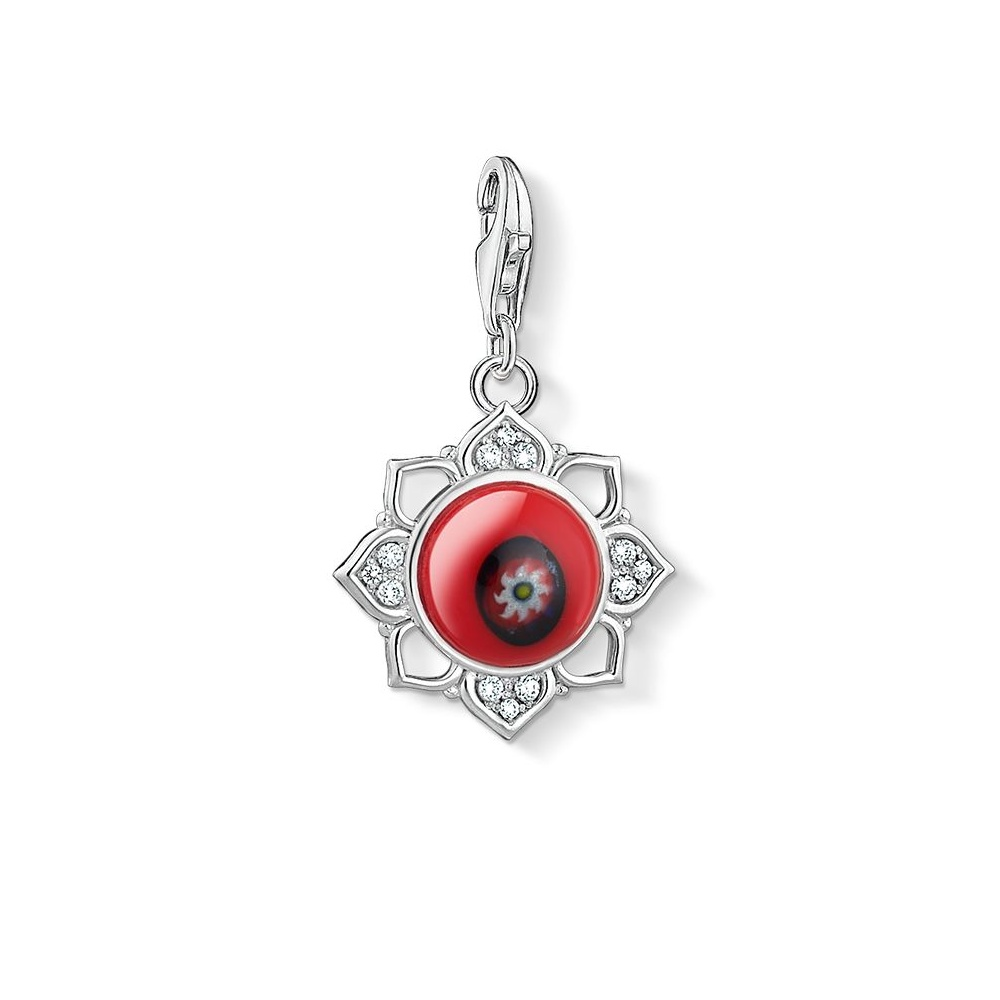 Thomas sabo silver red lotus flower charm 1441 052 10 jewellery thomas sabo silver red lotus flower charm 1441 052 10 izmirmasajfo Images