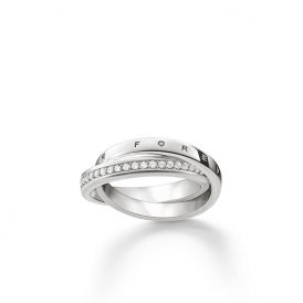 Thomas Sabo Silver Together Forever Ring 58 ~ TR2099-051-14-58