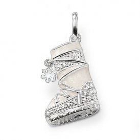 Thomas Sabo White CZ & Enamel Snow Boot
