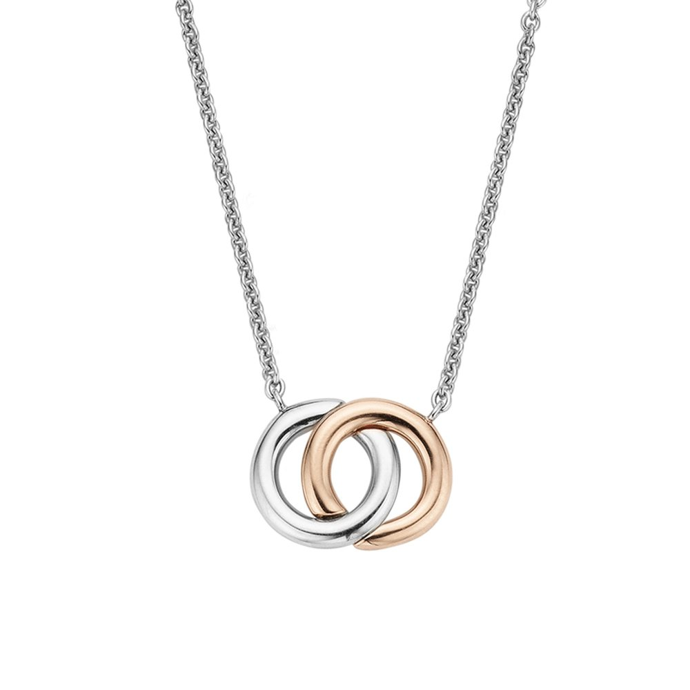 Ti Sento Milano Silver Necklace with Rose Gold Plated