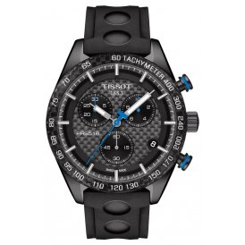Tissot Black Carbon Gents Watch ~ T1004173720100