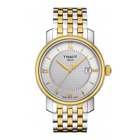 Tissot Bridgeport Steel & Gold Gents Watch ~ T0974102203800