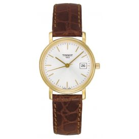 Tissot Desire Brown Leather & Gold Ladies Watch ~ T52511131