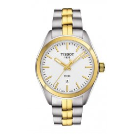 Tissot PR 100 Quartz Gold & Steel Ladies Watch ~ T1012102203100