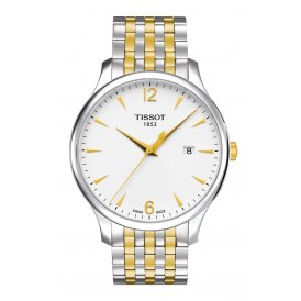 Tissot Tradition Gold & Steel Gents Watch ~ T0636102203700