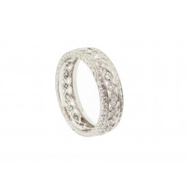 Ungar & Ungar 18ct White Gold Full Diamond Ring