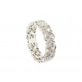 Ungar & Ungar 18ct White Gold Scroll-Work Diamond Ring