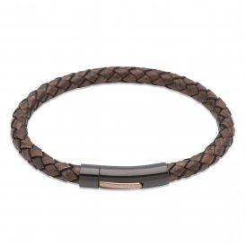 Unique Antique Dark Brown Leather Bracelet 19cm ~ B320ADB/19CM