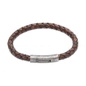 Unique Antique Dark Brown Leather Bracelet 21cm ~ B322ADB/21CM