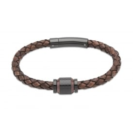 Unique Antique Dark Brown Leather Bracelet 21cm ~ B327ADB/21CM