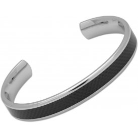 Unique Black Steel Bangle ~ QB-90/M