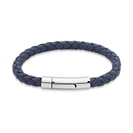 Unique Leather Bracelet Blue 21cm ~ A40BLUE/21CM