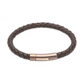 Unique Leather Bracelet Dark Brown 21cm ~ B321DB/21CM