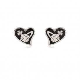 Vivienne Westwood Amphai Rhodium & Black Earrings ~ BE638/7