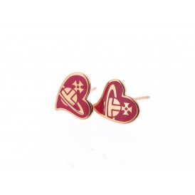 Vivienne Westwood Amphai Rose Gold & Fuchsia Earrings ~ BE638/10