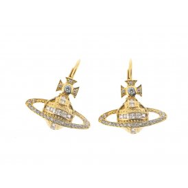 Vivienne Westwood Andrea Bas Relief Drop Earrings - Gold ~ BE1281/2