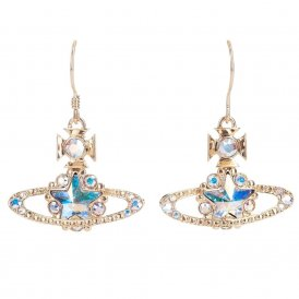 Vivienne Westwood Astrid Gold & Aurora Drop Earrings ~ BE812/3