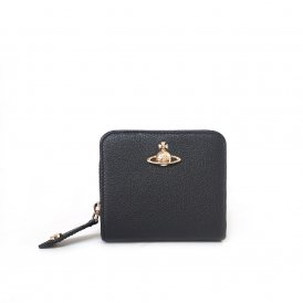 Vivienne Westwood Balmoral Medium Zip Wallet - Black ~ 51080020