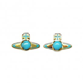 Vivienne Westwood Betsy Earrings - Turquoise/Gold ~ BE449/26