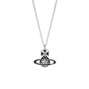 Vivienne Westwood Black Brianna Small Bas Relief Pendant