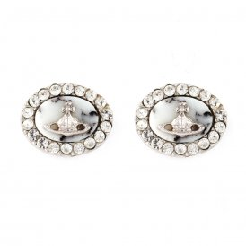 Vivienne Westwood Giselle Rhodium & Howlite Earrings ~ BE656/1