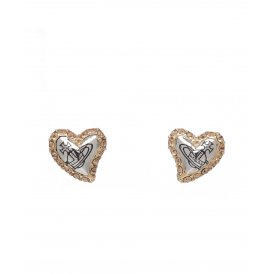 Vivienne Westwood Gold Rhodium Topaz Zita Stud Earrings