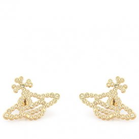 Vivienne Westwood Griselda Bas Relief Gold Earrings ~ 1522-02-86