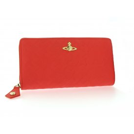 Vivienne Westwood Harrow Zip-Round Wallet - Red ~ 321396-RED