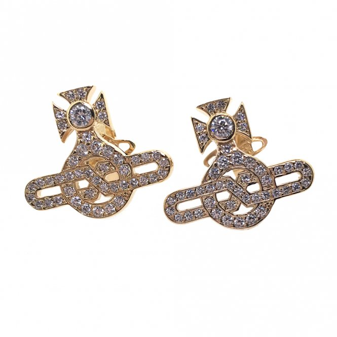 Vivienne Westwood Infinity Earrings - Gold ~ BE624568/2