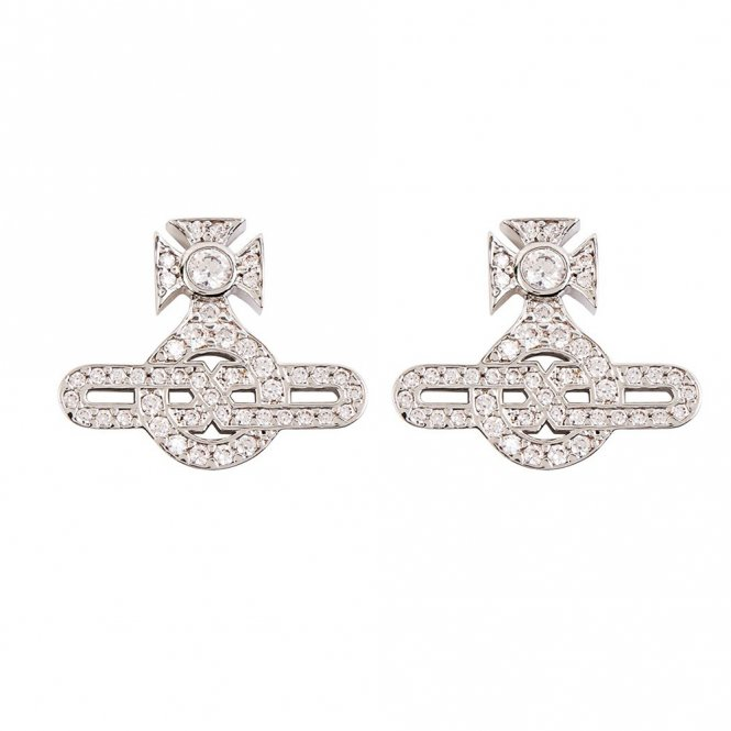 Vivienne Westwood Infinity Earrings - Rhodium ~ BE624568/1