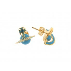 Vivienne Westwood Iona Earrings - Gold/Turquoise ~ BE1106/5