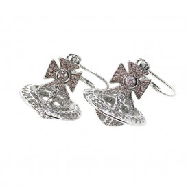 Vivienne Westwood Isabella Drop Earrings - Rhodium ~ BE624524/1