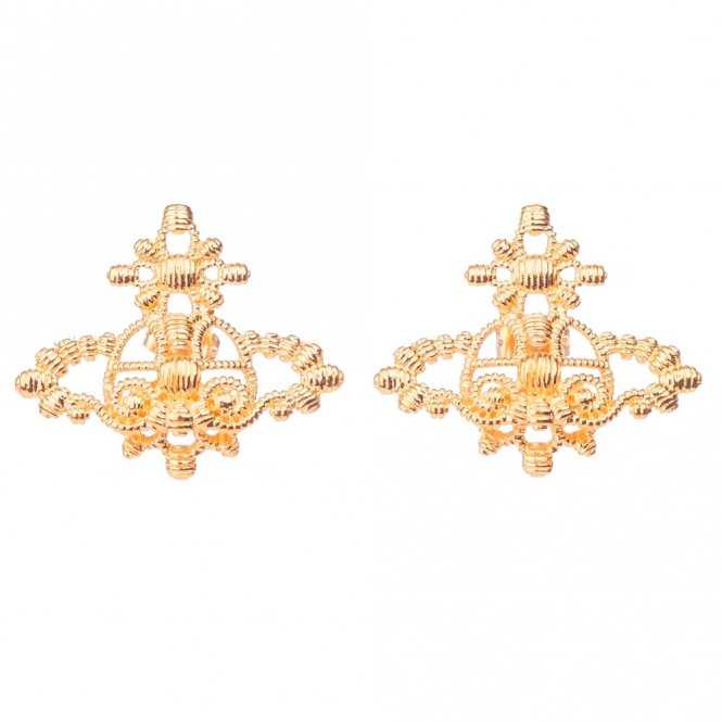 Vivienne Westwood Isolde Bas Relief Earrings - Gold ~ BE615/3