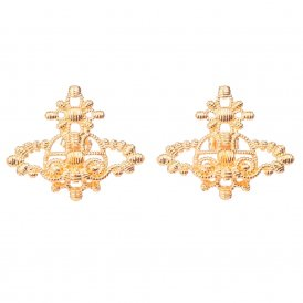 Vivienne Westwood Isolde Bas Relief Gold Earrings ~ BE615/3