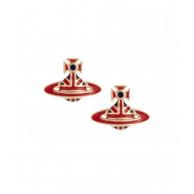 Vivienne Westwood Jack Stud Earrings - Red/Blue/Gold ~ 724875B/2