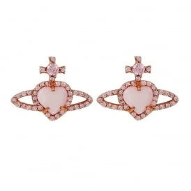 Vivienne Westwood Leontyne Earrings - Rose Gold/Pink ~ BE1358/2