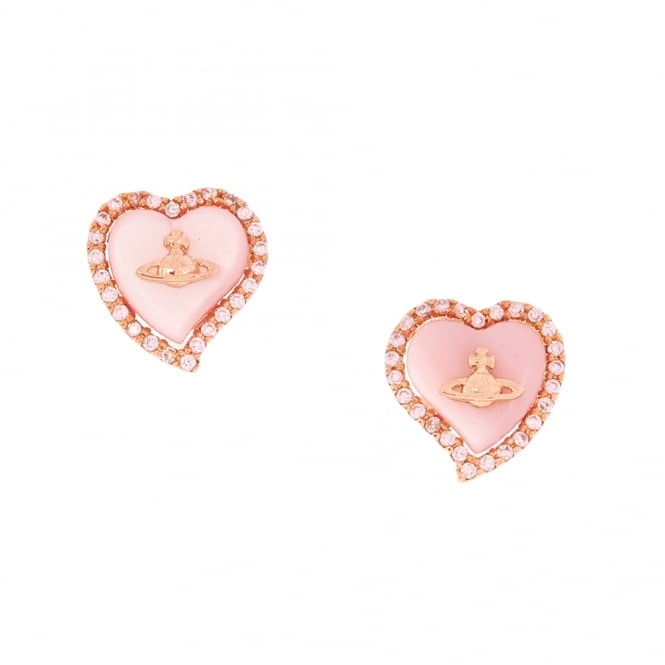 Vivienne Westwood Leontyne Heart Earrings - Rose Gold ~ BE1323/2
