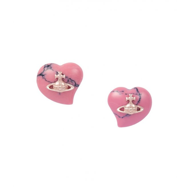 Vivienne Westwood Liz Earrings - Pink/Rose Gold ~ BE165/34