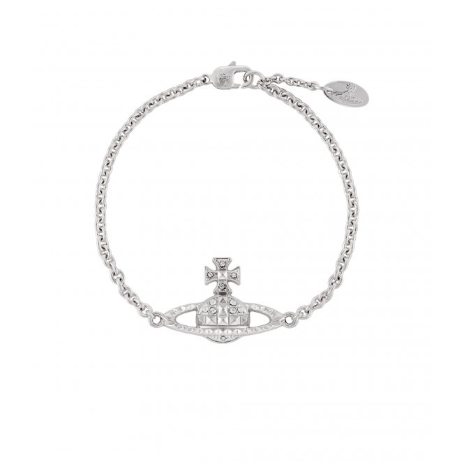 Vivienne Westwood Mayfair Bas Relief Bracelet - Rhodium ~ MT12629/2
